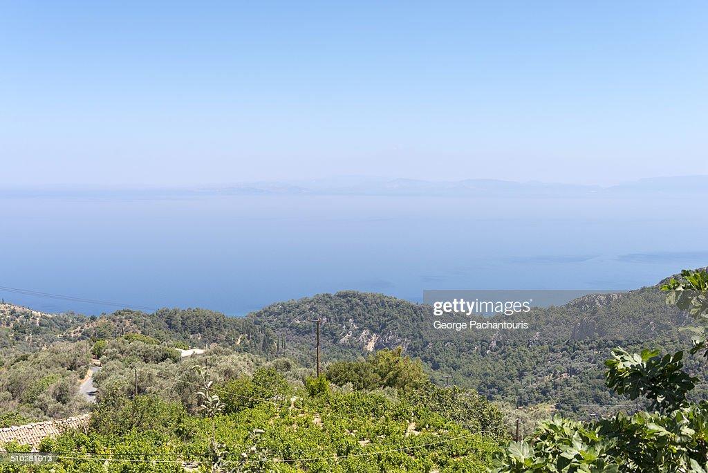 View of the Aegean sea : Stock Photo
