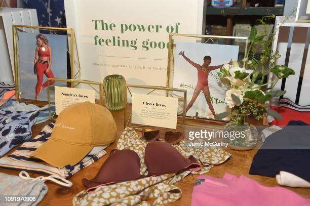 A view of the Aerie lingerie as Aerie celebrates #AerieREAL Role Models in NYC on January 31 2019 in New York City