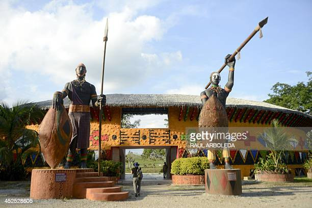 View of the African museum at the Napoles Ranch theme park in the Puerto Triunfo municipality Antioquia department Colombia on November 23 2013 The...