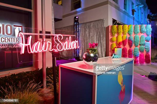 """View of the after party during the """"We're Here"""" Season 2 Premiere at Sony Pictures Studios on October 08, 2021 in Culver City, California."""