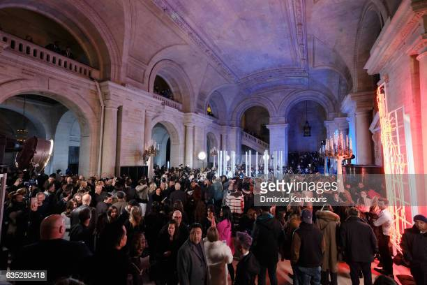 A view of the After Party for the Philipp Plein Fall/Winter 2017/2018 Women's And Men's Fashion Show at The New York Public Library on February 13...