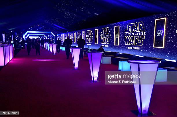 "A view of the after party for the World Premiere of ""Star Wars The Force Awakens"" on Hollywood Blvd on December 14 2015 in Hollywood California"