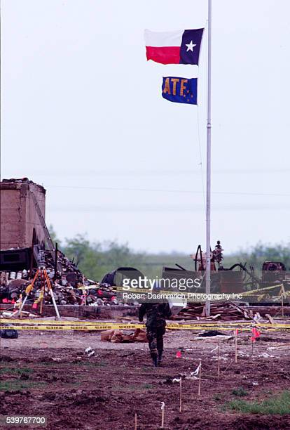 View of the aftermath of the Branch Davidian tragedy Photo by Bob Daemmrich/Corbis Sygma