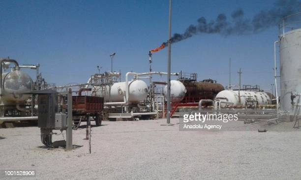 A view of the Al Omar Oil Field in Deir ezZor Syria as YPG/PKK terror group reaches a deal with Assad regime on the hand over of oil fields and its...