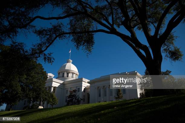 A view of the Alabama State Capitol before the 'Women For Moore' rally in support of Republican candidate for US Senate Judge Roy Moore November 17...