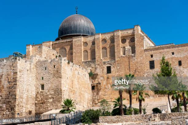 A view of the AlAqsa Mosque in the Old City of Jerusalem Israel on June 25 2018 The AlAqsa Mosque is the third holiest site in Islam