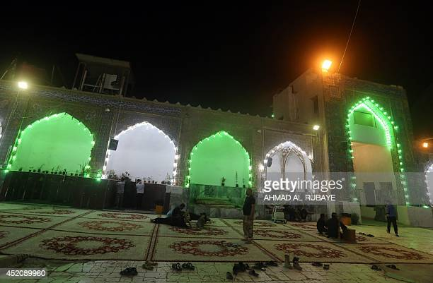 A view of the AlAskari shrine under repair which embraces the tombs of the 10th and 11th Imams Ali AlHadi his son Hassan AlAskari in the northern...