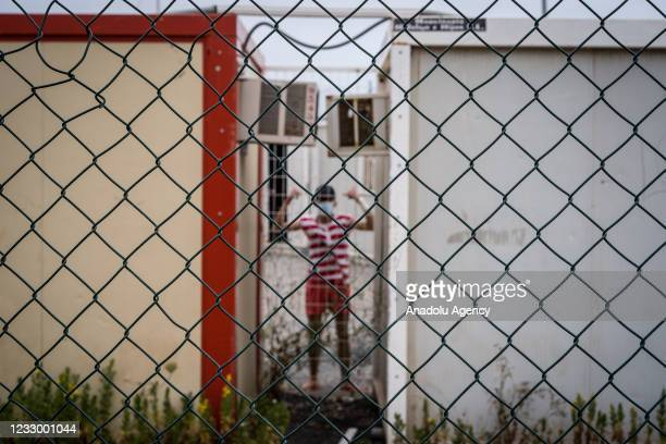 View of the Albergue de Piniers where around 800 migrant children, unaccompanied foreign minors stay at, on the border between Ceuta and Morocco, on...
