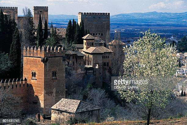 View of the Alcazaba of the Alhambra Granada Andalusia Spain 13th15th century
