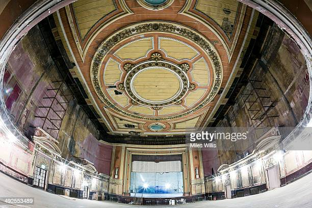View of the Alexandra Palace Theatre auditorium looking towards the stage on May 16 2014 in London England Alexandra Palace situated in the London...