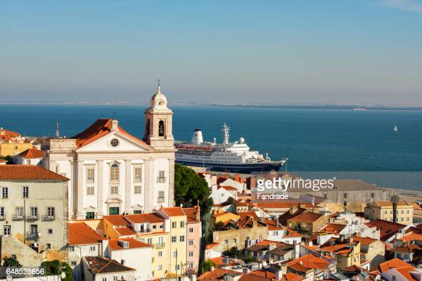 View of the Alfama district and Tagus River, Lisbon
