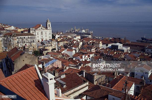 View of the Alfama district on the Tagus river Lisbon Historical Province of Extremadura Lisbon Portugal