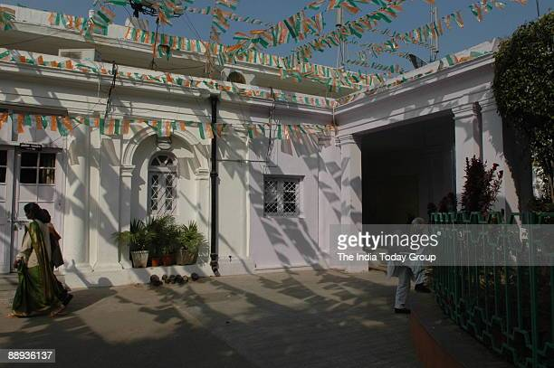 View of the All India Congress Committee office at 24 Akbar Road in New Delhi India
