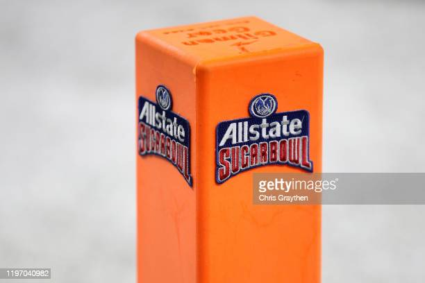 View of the Allstate Logo during the Allstate Sugar Bowl at Mercedes Benz Superdome on January 01, 2020 in New Orleans, Louisiana.
