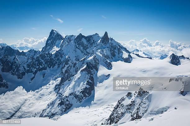 Vue sur les Alpes de l'Aiguille du midi, Chamonix, France