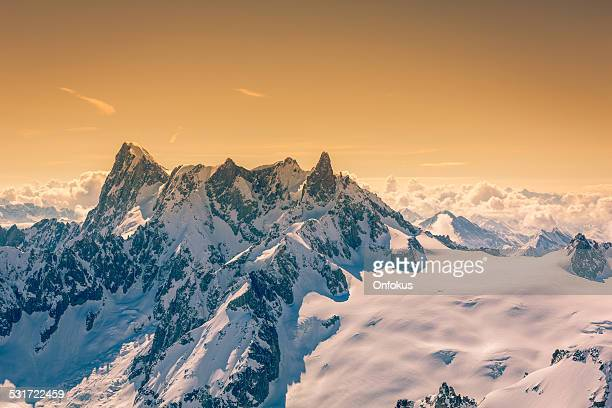 View of the Alps from Aiguille du midi, Chamonix, France