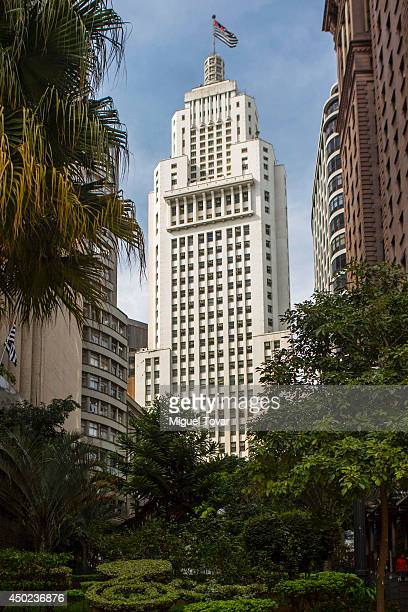 View of the Altino Arantes building in downtown Sao Paulo on June 07 2014 in Sao Paulo Brazil Sao Paulo will be hosting the FIFA 2014 World Cup...