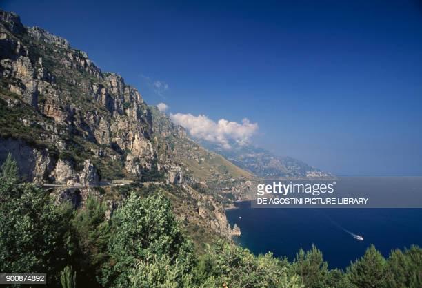View of the Amalfi Coast Campania Italy