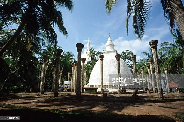 A view of the Ambasthale Dagoba at Mihintale Buddhism originated in Sri Lanka in this spot in 247 BC when King Devanampiya Tissa on a hunting...
