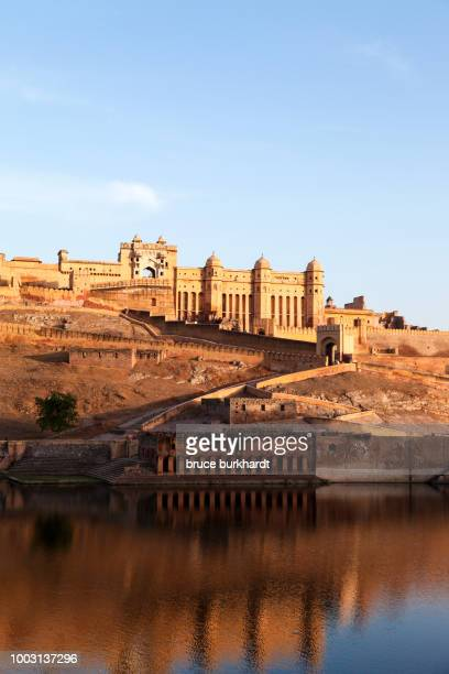 View of the Amber Palace in Amer, Rajasthan, India