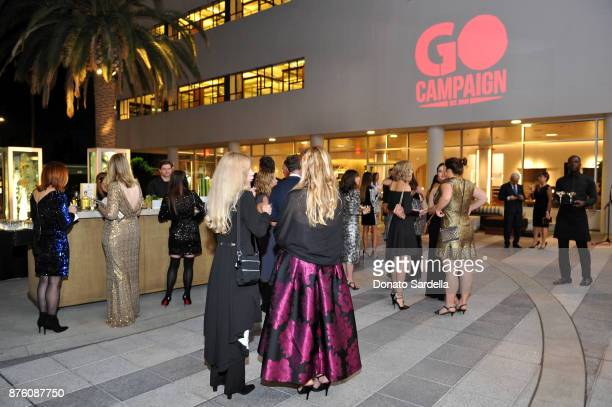 A view of the ambience during the 2017 GO Campaign Gala at NeueHouse Los Angeles on November 18 2017 in Hollywood California