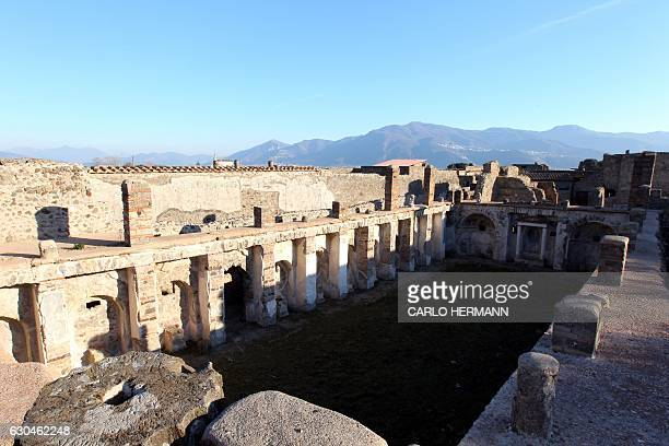A view of the Anchor House that reopened to public after its restoration in the archaeological area of Pompeii The Roman town of Pompei was buried by...