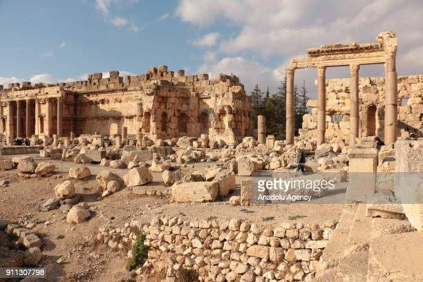 A view of the ancient city of Baalbek in Lebanons eastern Beqaa province on January 28 2018