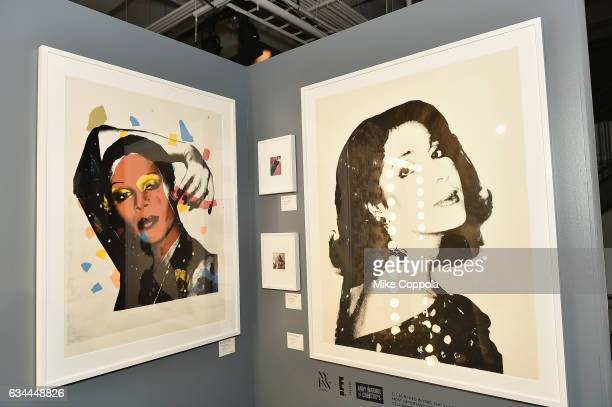 A view of the Andy Warhol Exhibition at Skylight Clarkson Sq during New York Fashion Week The Shows on February 9 2017 in New York City