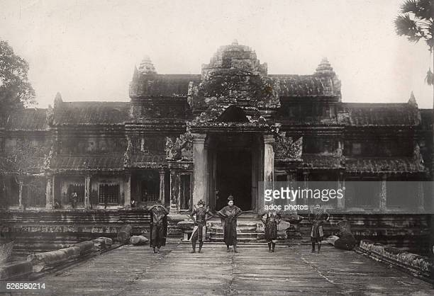 View of the Angkor temple . Ca. 1910.