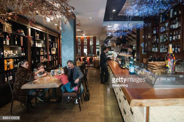 View of the Antonio Ferrari restaurant on February 15, 2017 in Padova, Italy. The restaurant offers a 5% discount off the total food bill if children...