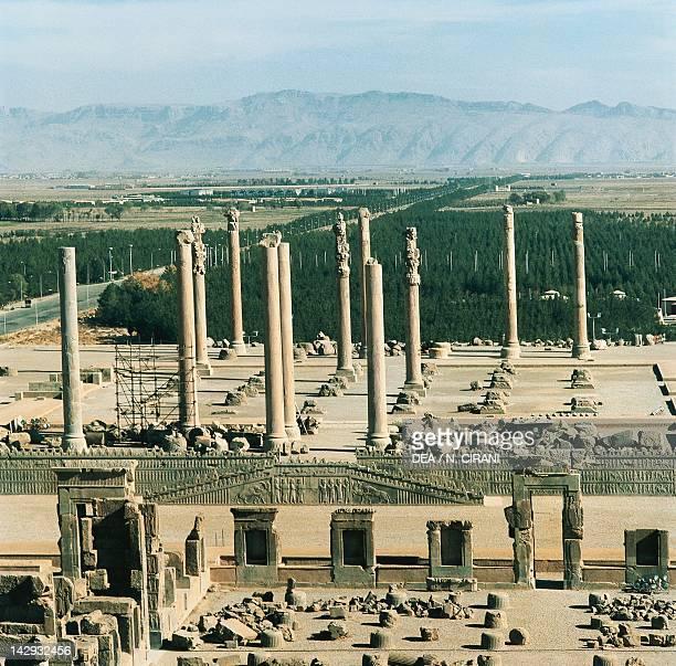 View of the Apadana from Darius Palace in Persepolis Iran Sassanid civilisation 5th Century
