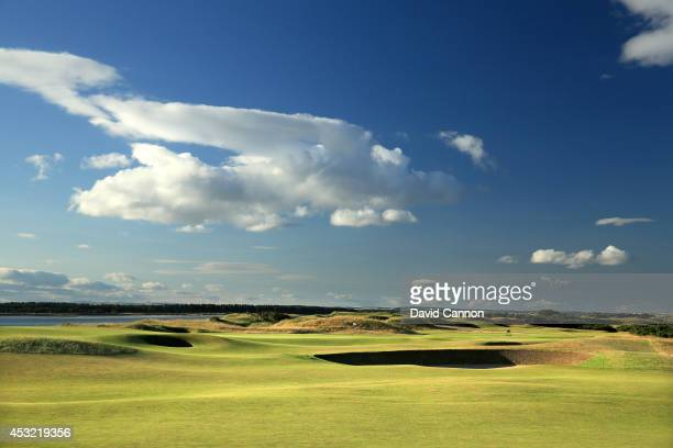View of the approach to the green on the 371 yards par 4, 7th hole on the Old Course at St Andrews venue for The Open Championship in 2015, on July...
