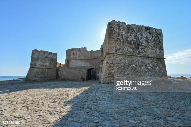 A view of the Aragonese Castle of Le Castella in Calabria southern Italy An important tourist destination of Calabria visited every year by thousands...