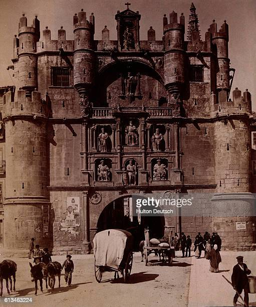 A view of the Arch of St Marie at Burgos