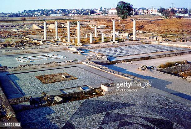 View of the archaeological remains at Pella Central Macedonia From the 5th century BC2nd century BC Pella was the capital of ancient Macedonia It was...