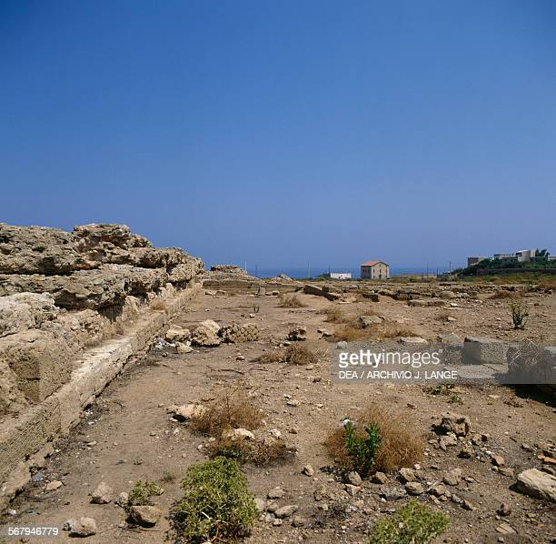 View of the archaeological site of Capo Colonna 6th century BC Crotone Calabria Italy