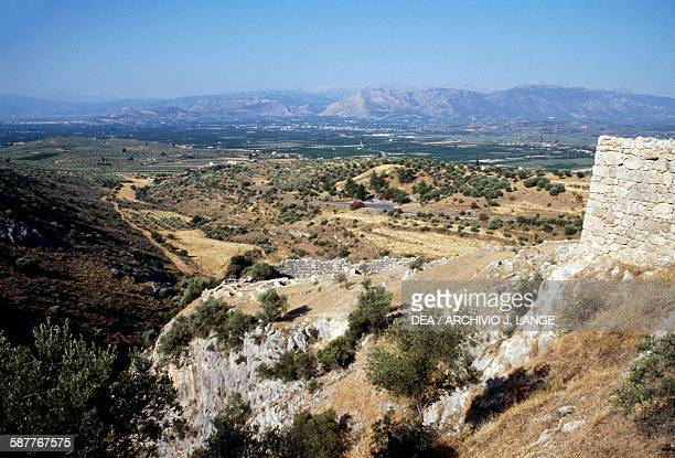 View of the archaeological site of Mycenae Greece Mycenaean civilisation 19th12th century BC