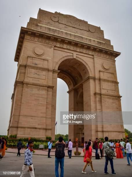 View of the architecture of India Gate in New Delhi which was constructed in 1931 to pay tribute to 82000 soldiers of Indian Army During first world...
