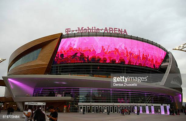 A view of the arena before the opening celebration of the TMobile Arena on April 7 2016 in Las Vegas Nevada