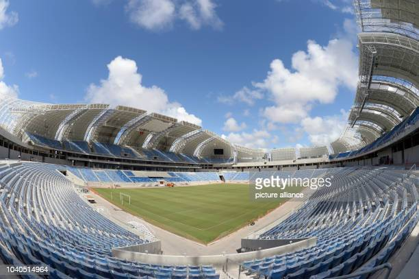 View of the Arena das Dunas stadium in Natal, Brazil, 08 December 2013. Natal is one of the host cities of the FIFA World Cup 2014, staging 4 games...