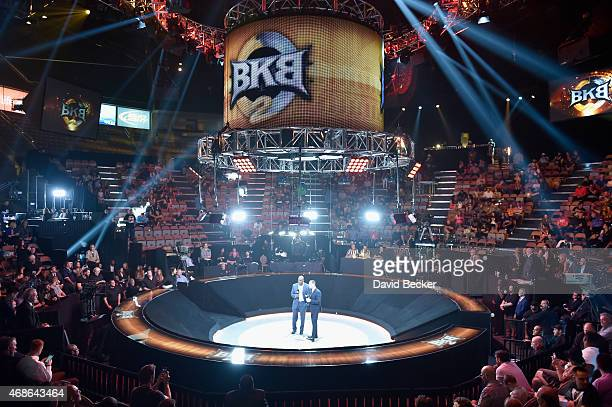A view of the arena during BKB 2 Big Knockout Boxing at the Mandalay Bay Events Center on April 4 2015 in Las Vegas Nevada
