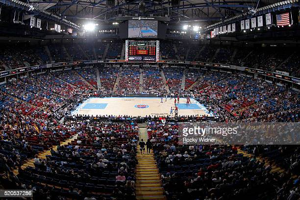 A view of the arena during the game between the Miami Heat and Sacramento Kings on April 1 2016 at Sleep Train Arena in Sacramento California NOTE TO...