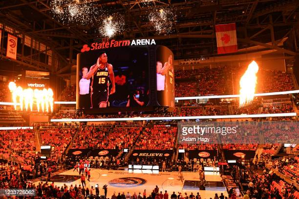 JuNE 29: A view of the arena prior to the game between the Milwaukee Bucks and the Milwaukee Bucks during Game 4 of the Eastern Conference Finals of...