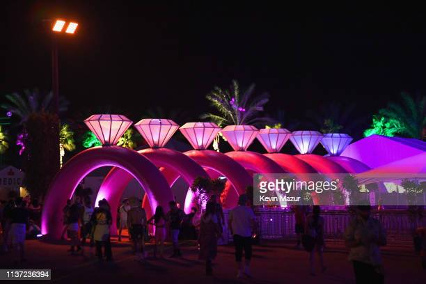 A view of the Ariana Grande merchandise store during the 2019 Coachella Valley Music And Arts Festival on April 14 2019 in Indio California