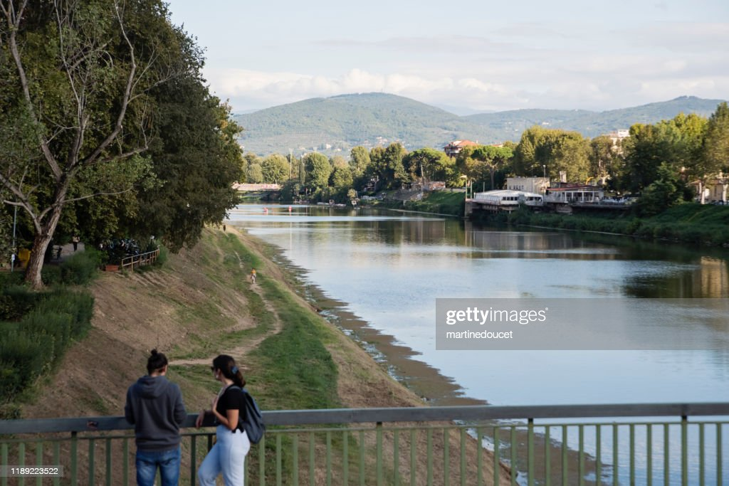 View of the Arno river, Florence Italy : Stock Photo