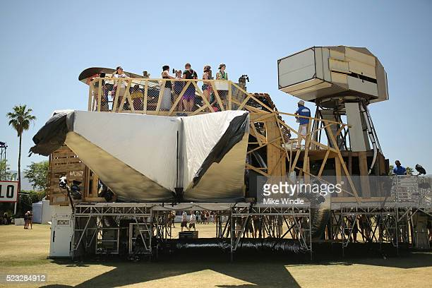 A view of the art installation piece Armpit by Katrina Neiburga Andris Elitis Riga of Latvia as seen during day 1 of the 2016 Coachella Valley Music...