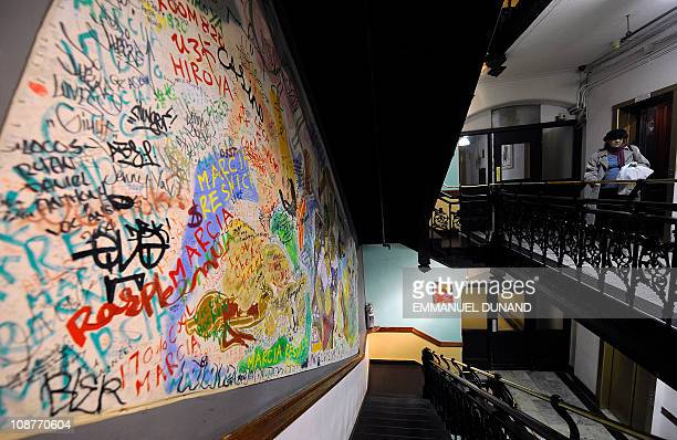 A view of the artdecorated stairway at the Chelsea Hotel in New York January 10 2011 The Chelsea Hotel a haven for struggling artists for over 50...
