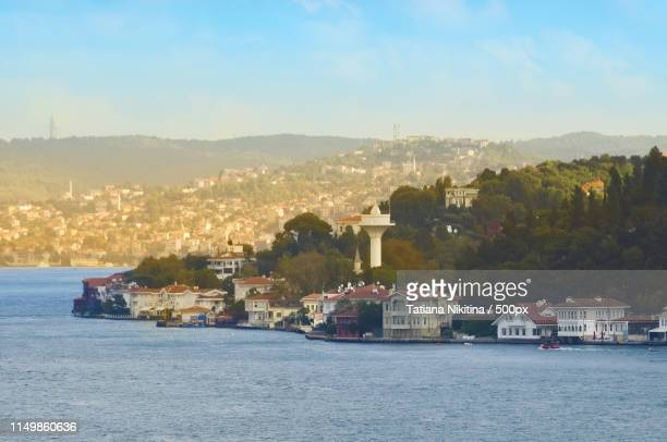 view of the asian part of istanbul and bosphorus from the top of the hill - nikitina stock pictures, royalty-free photos & images