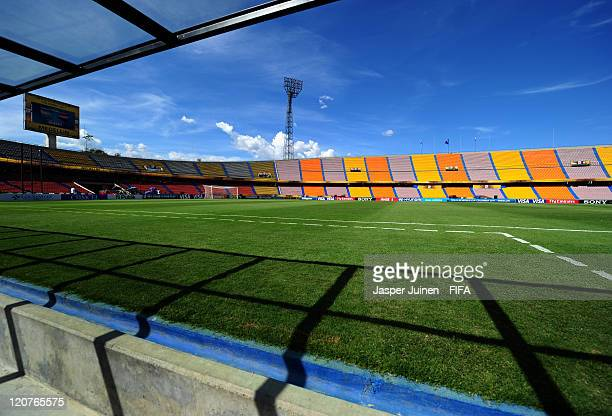 View of the Atanasio Girardot stadium prior to the FIFA U20 World Cup Colombia 2011 round of 16 match between Argentina and Egypt at on August 9 2011...