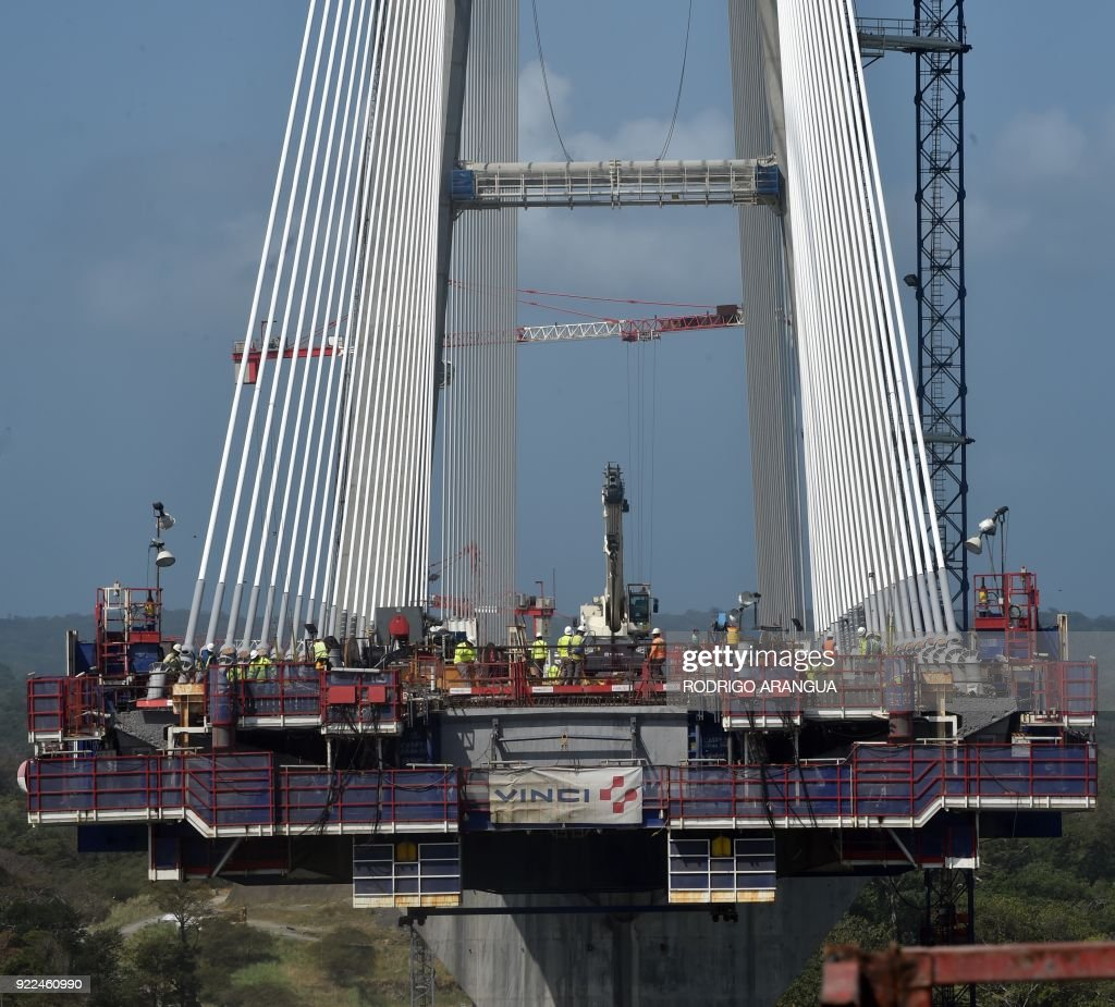 PANAMA-CANAL-BRIDGE-CONSTRUCTION : ニュース写真